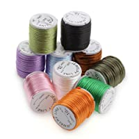 Ecloud Shopョ 10 Rolls 3m Multicolor Round Satin Rattail Beading Cord 3mm