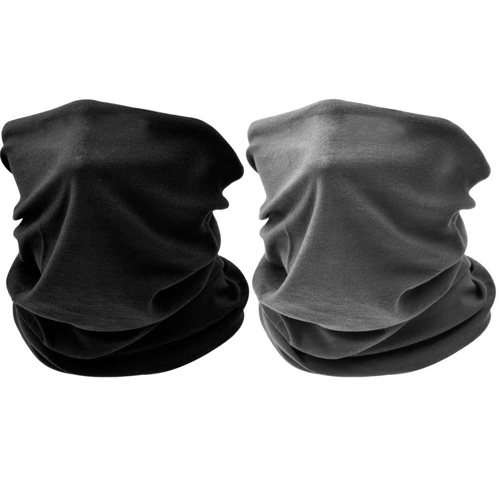 Outdoor Face Mask - Perfect for Motorcycle Riding, Skiing, Snowboarding, Fishing - Work as Sun Shield, Dust Mask, Neck Gaiter, Balaclava, Bandana - Breathable Seamless Microfiber Bandana - Breathable Seamless Microfiber (1PCS-Black) DoYay