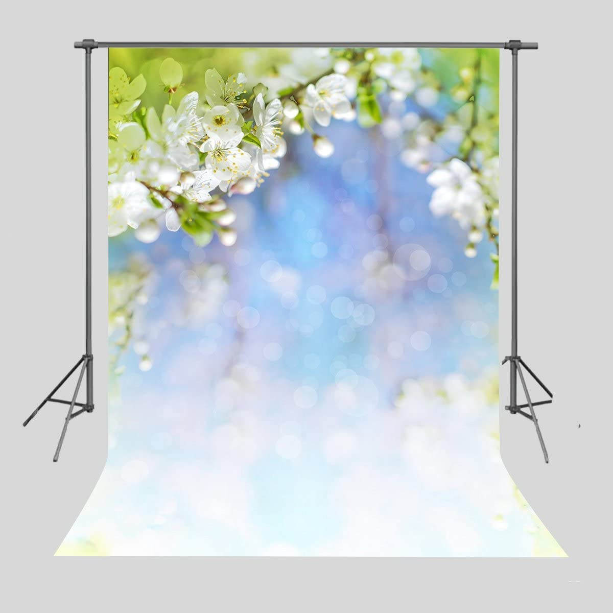 FUERMOR 7x5ft Flowers Painting Backdrop Photography Floral Wall Photo Booth Banner Art Studio Props WQFU062