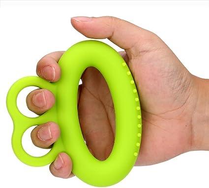 Hand Finger Strength Exerciser Training Strengthener Grip Resistance Ring Gym