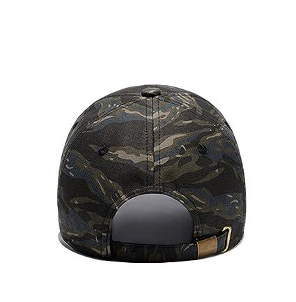 Dexinx Hombres Ajustable Cómodo Sombrero de Béisbol Durable Casquillos del Verano Gorra de Camuflaje Simple 4oBNWN4ib