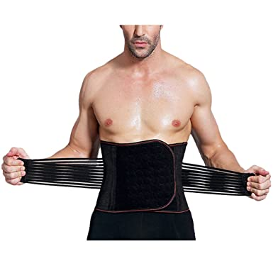 16712782bc Zhhlaixing Mens Slimming Waist Shaper Compression Cincher Beer Belly Waist  Belt Body Shaper Tummy Trimmer  Amazon.co.uk  Clothing