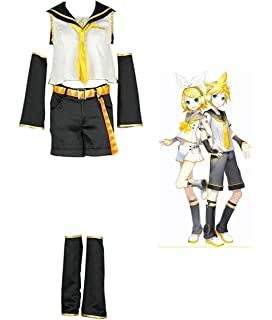 Amazon.com: Miccostumes Mens Kagamine Len Cosplay Costume ...