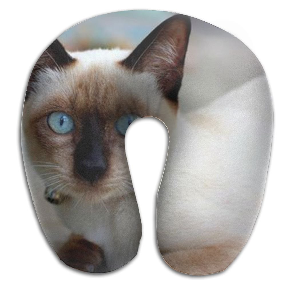 Siamese Kitten Cat Super Soft Travel Pillow Spa Memory Foam U-SHAPE For Travel Rest Man