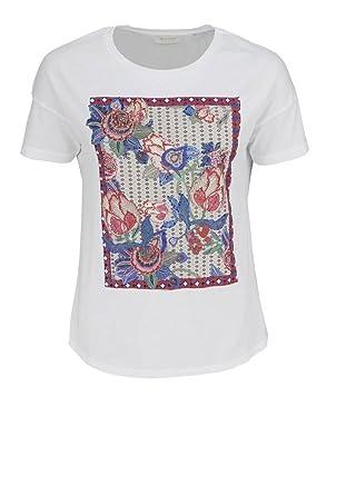 verschiedene Stile mehrere farben Rabattgutschein rich & royal Kurzarm T-Shirt Rundhals Statement-Print Strass ...