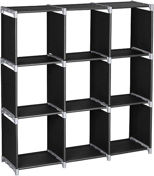 Home Box Storage Compartment Shelf Rack 3 Tier Organiser Plastic Shelving Unit