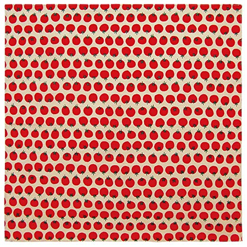Honjien Furoshiki Traditional Japanese Fabric - Wrapping Cloth - Extra Large 39 x 39 inches, 100% Cotton, Made in Japan: with Cute Motif: Tomato DOTS