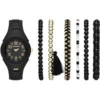 Skechers SR9021 Reloj para Mujer, Correa Silicon Negro, Caratula Negro, Análogo