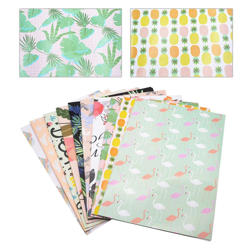 Amazon com: TOYANDONA 10 Sheets Flower Wrapping Paper