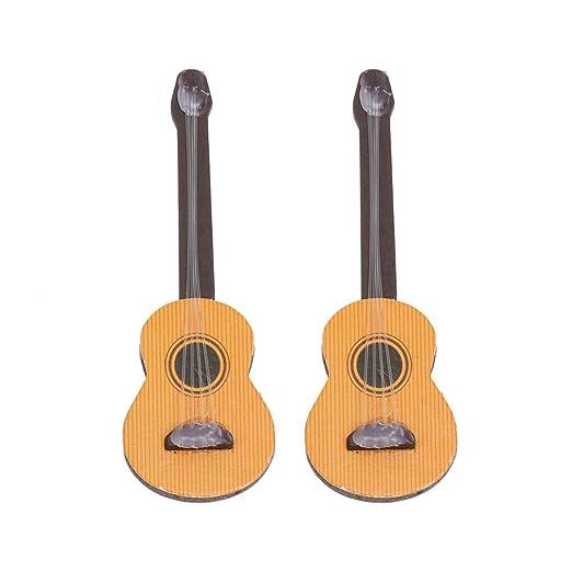 Healifty 2 Piezas Guitarra Miniatura Mini Guitarra de Madera ...