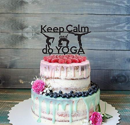 Decoración divertida para tartas, posturas de yoga ...