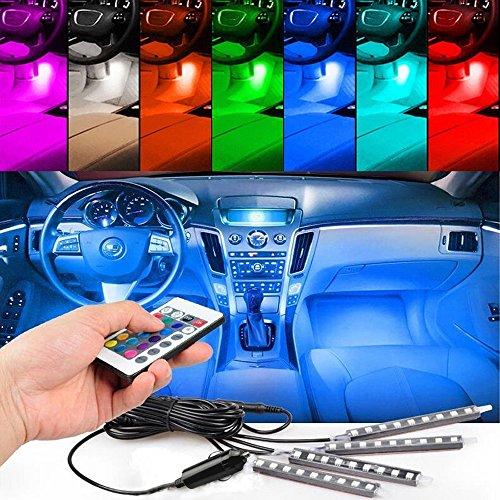 4pc blue led car interior lights - 5