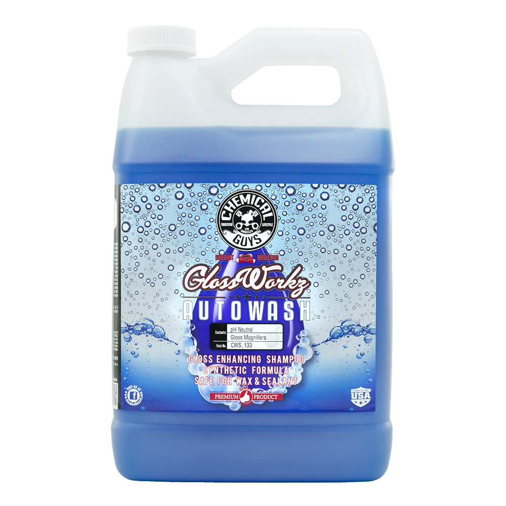 Chemical Guys CWS_133C04 Glossworkz Gloss Booster and Paintwork Cleanser (1 Gal) (Case of 4) by Chemical Guys