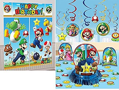 Super Mario Bros. Party Decoration Bundle - Includes
