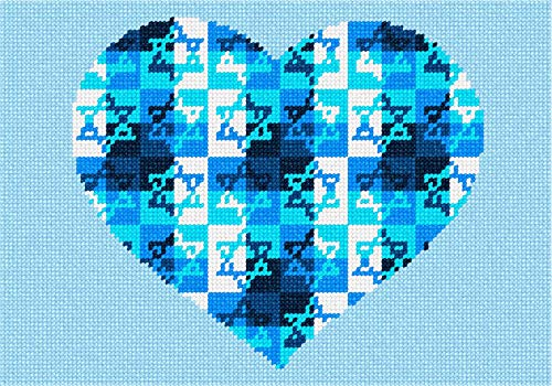 Heart Jewish Star Needlepoint Kit ()