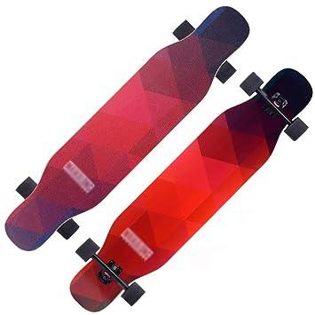 DUWEN Skateboard Longboard Skateboard de Cuatro Ruedas Principiantes Niños y niñas Cepillo Tablero de Baile Callejero Adolescentes Scooter Profesional ...