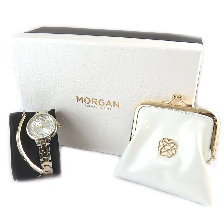 Box zeigt + juwel + purse 'Morgan'stieg goldene elfenbein.