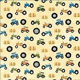 Karen Foster Design Scrapbooking Paper, 25 Sheets, Tractors, 12 x 12''