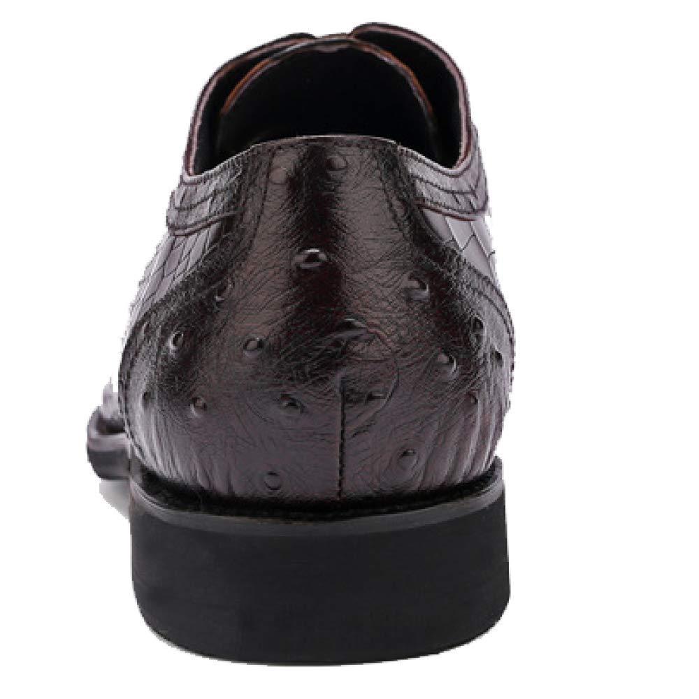 Männer Atmungs Lederschuhe Business Gummi Komfort Atmungs Männer Broch Carved schwarz d27a54