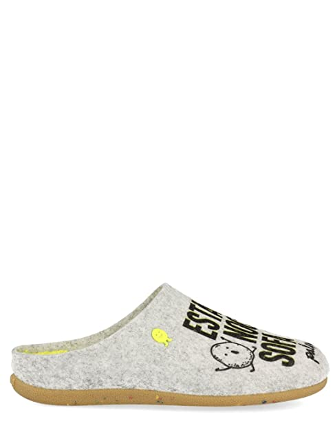 Zapatillas Grises Frase de Estar por casa Hot Potatoes de Gioseppo (42 - Gris)