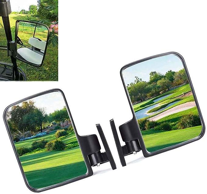 2x Golfwagen Rückspiegel Universal Rückspiegel Auto Lkw Wohnmobil Seitenspiegel Außenspiegel Traktor Bagger Seitenspiegel Rückansicht Spiegel Auto