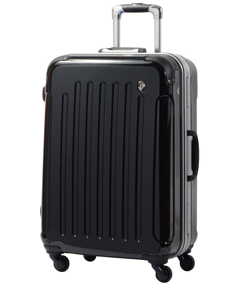 [グリフィンランド]_Griffinland TSAロック搭載 スーツケース 軽量 アルミフレーム ミラー加工 newPC7000 フレーム開閉式 B003GZO05M SS(機内持込)型|ナイトブラック ナイトブラック SS(機内持込)型