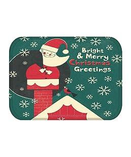 Vimbhzlvigour Alfombra de Suelo, Campana de Navidad, Copo de Nieve, Antideslizante, Suave, decoración de Cocina, baño