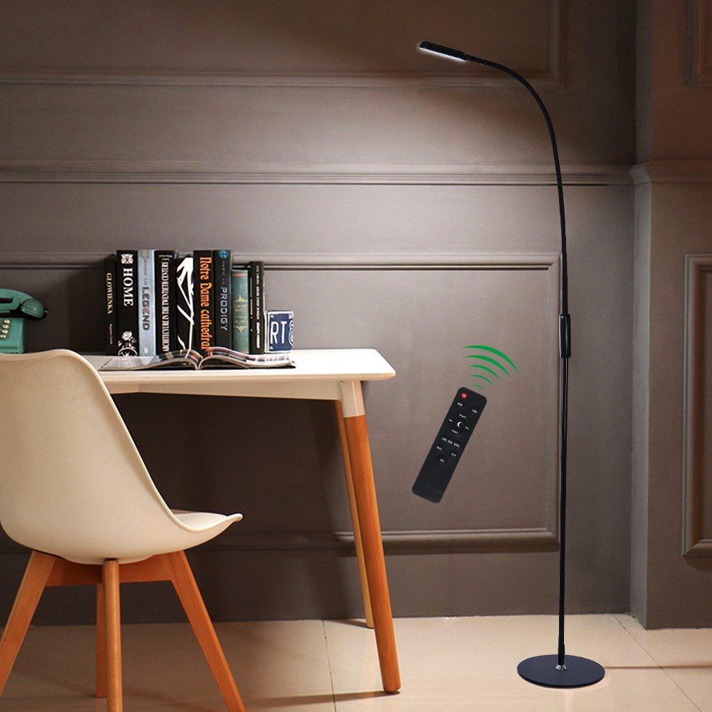 Tonffi LED Stehlampe 9W 720LM dimmbar mit Fernbedienung Standleuchte für Schlafzimmer Wohnzimmer Büro Kinderzimmer
