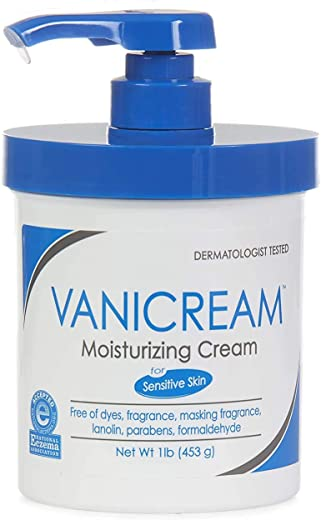 Vanicream Moisturizing Cream with Pump | Fragrance and Gluten Free | For Sensitive Skin | Soothes Red, Irritated, Cracked or Itchy Skin |…