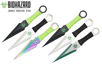Amazon.com: 9 inch 6pcs Set Zombie cuchillo de lanzamiento ...