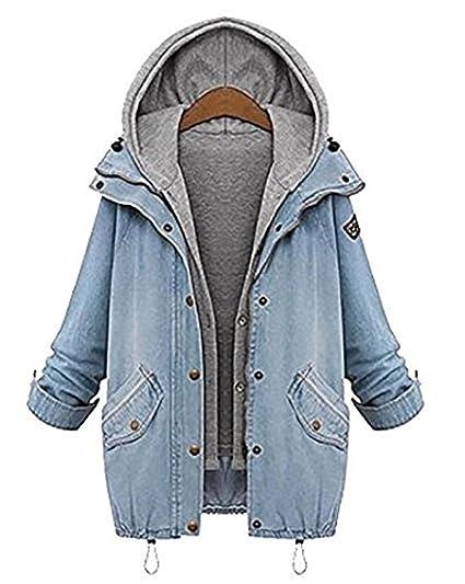 Masterein Mujeres Clase Demin Chaquetas Cardigans Adulto Jeans Hoodies Blazer Casual Outwear Abrigos Tops: Amazon.es: Ropa y accesorios