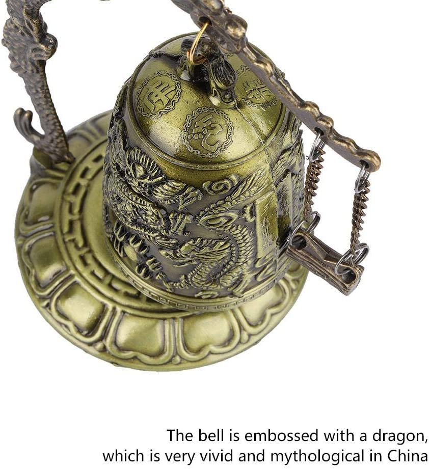 5In Vintage Dragon Bell Gothic Decor Hanging Bell Bronze Dragon Bell Ornaments Buddhist Home Office Decoration Artwork