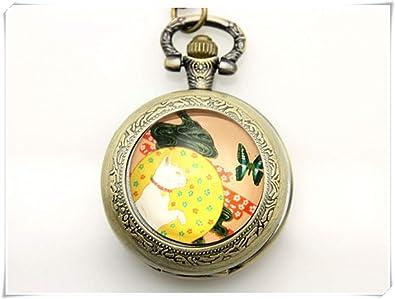 Amazon.com: Dandelion – Reloj de bolsillo japonés para gato ...