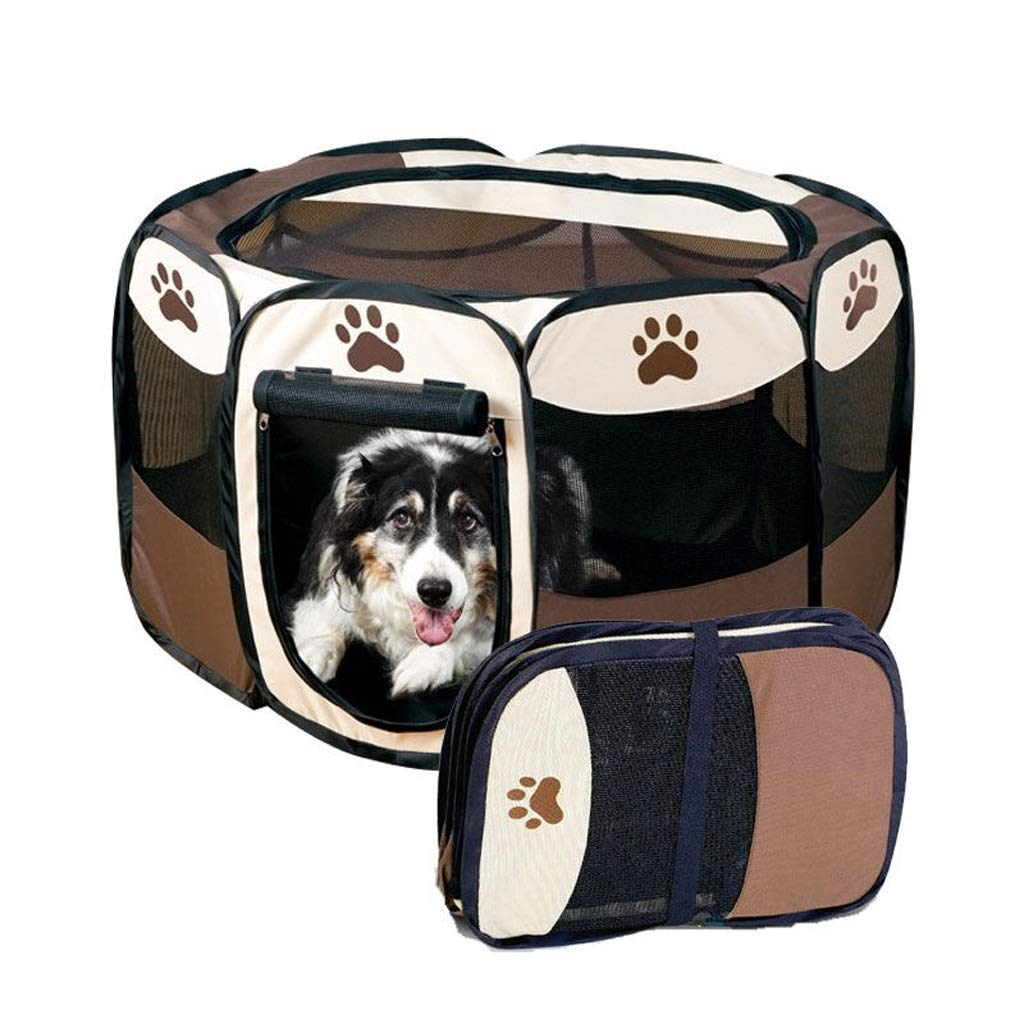 L Zhijie-cwl Pet Dog Cat Playpen Cage Crate Portable Folding Exercise Kennel Indoor & Outdoor Use (Size   L)