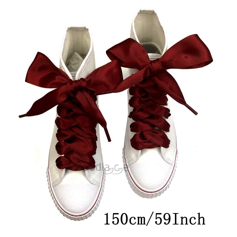 Goodnews 4cm di larghezza Moda lacci in raso nastro lacci piatto raso largo  nastro lacci per scarpe sportive Sneakers colori assortiti  Amazon.it   Scarpe e ... a9130cfdb90