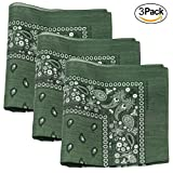 3 PK Cowboy Bandanas 100% Cotton 22 x - Best Reviews Guide