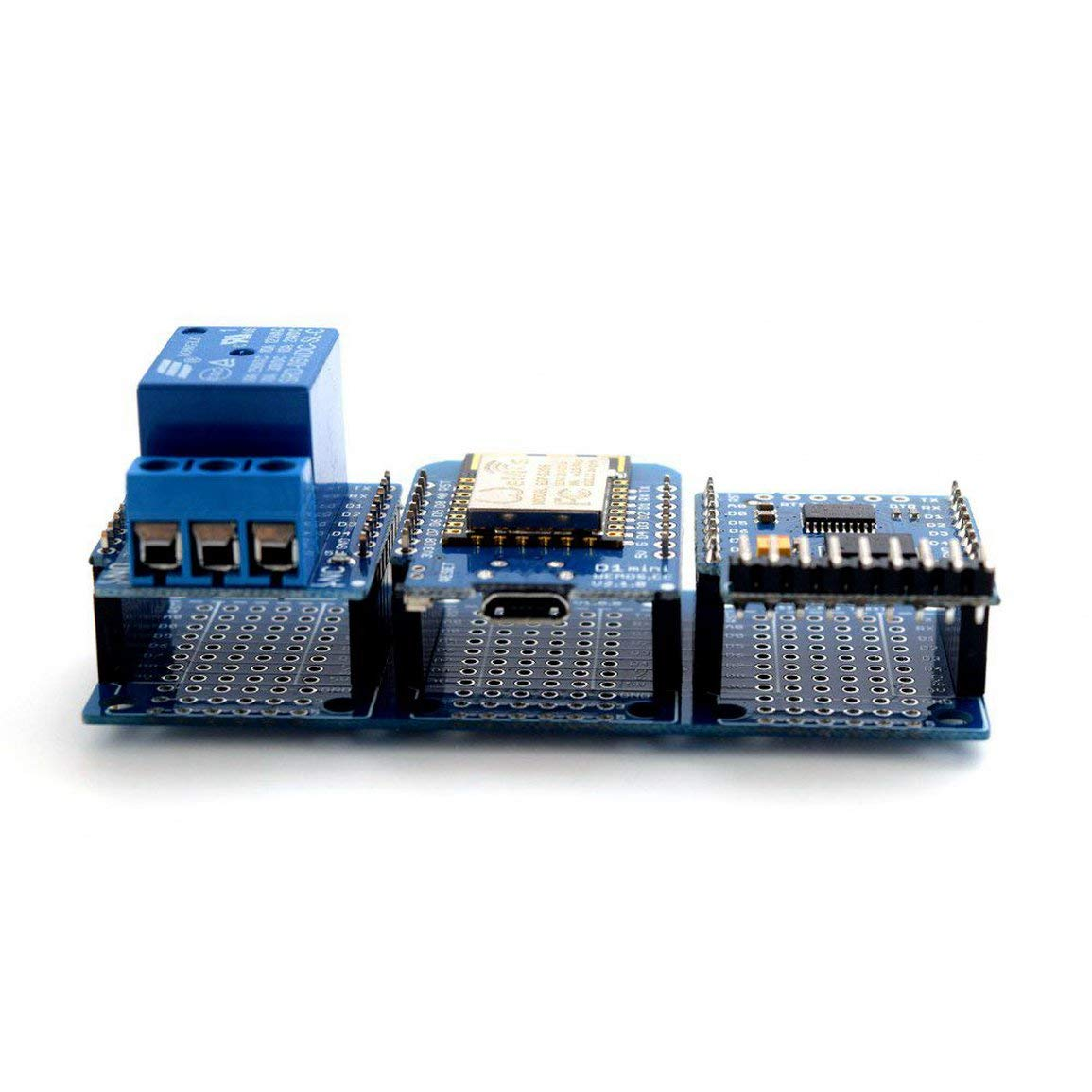 Hochwertige Triple Base f/ür WeMos D1 Mini ESP8266 Dua Shield Board JBP-X