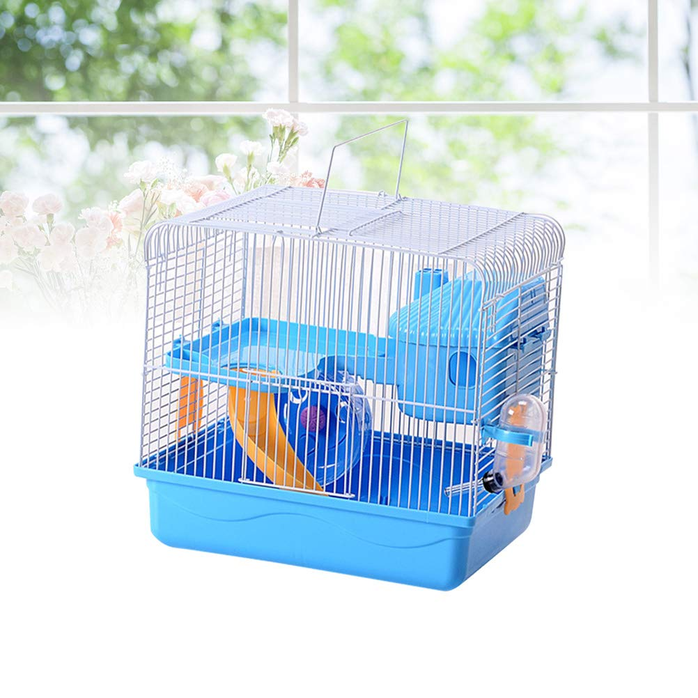 POPETPOP Hamster Cages and Habitats-Hamster Bedding Double-Layers Hamster House Portable Dwarf Hamster-Syrian Hamster-Hedgehog-Chinchilla-Mouse Cage by POPETPOP (Image #7)