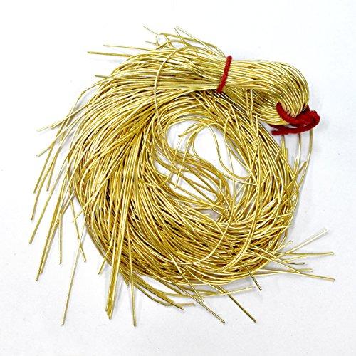 French Wire for Beading(Dabka), Gold Color, 1MM, 25 Mtr(50 Gram) (Wire French Bullion)
