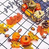 DOMESTAR Halloween Mini Artificial Pumpkins and