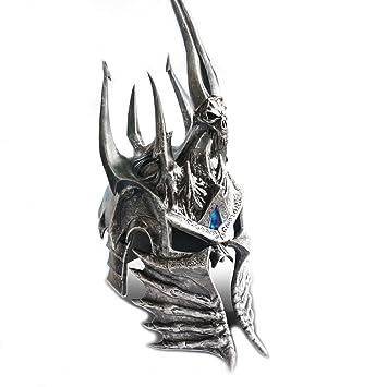 Wow World Of Warcraft Lich King Arthas Cosplay Knight Helm Helmet