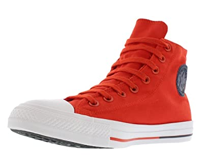 3163b08ae604 ... cheap converse chuck taylor all star hi signal red white obsidian  sneakers 153794f men shoes 87d1e