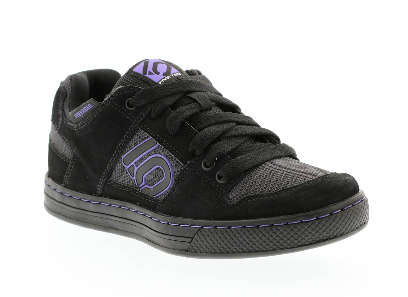 Five Ten Freerider Women's Flat Pedal Shoe: Black/Purple 9.5