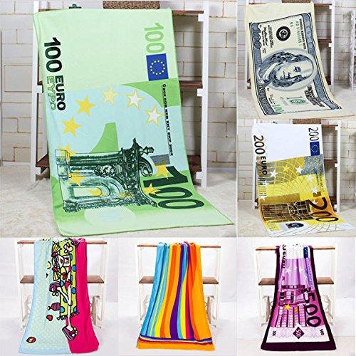 Absorbent Material Tub - 70x140cm Absorbent Microfiber Beach Towel Creative Design Print Dry Bath - Thirsty Absorptive Bathroom Spongy Bathe Assimilating Hygroscopic Bathtub - 1PCs