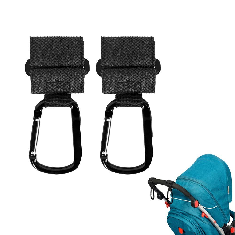 Chonletafu YTF 2 PCS Non-Slip Mommy Hooks for Stroller, Hanger for Baby Diaper Bags, Purse, Mommy Multi-Purpose Stroller/Organizer Hooks Clip for Shopping, Travelling and Walking