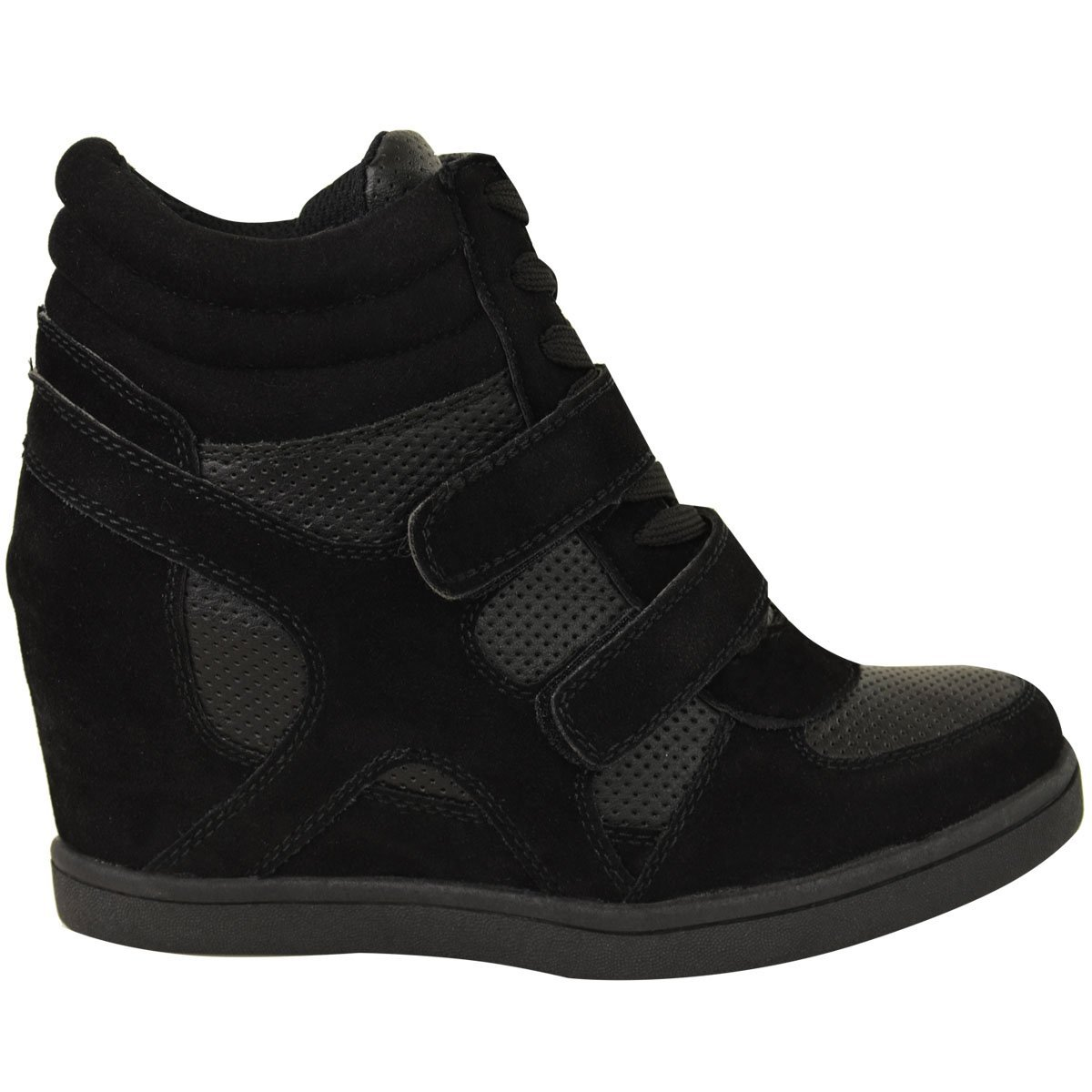277483ed181a Branded New Women Ladies Hi Top Wedge Trainers Sneakers Pumps Sport Ankle  Boots Size  Amazon.co.uk  Shoes   Bags