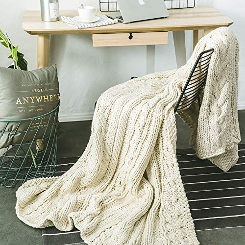 Soft, Comfortable Fabric 5 kg Blanket Blanket Carpet Office Wool Blanket Knit Blanket Bed Blanket Napping Blanket Blanket Quilt Blanket Towel (Color : Beige)