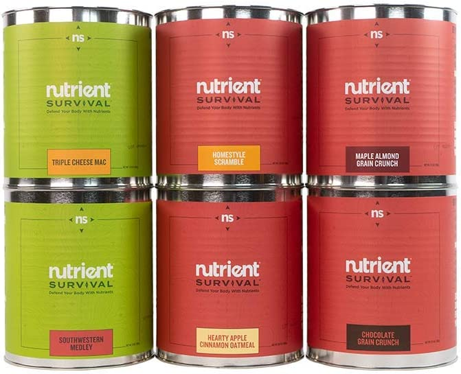 Nutrient Survival Freeze-Dried 72 Hour Food Kit | Feeds Four