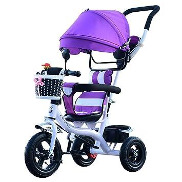 BBZZZ Cochecito de bebé Niños Interior Pequeño Triciclo de 7 Meses-6 años de Edad