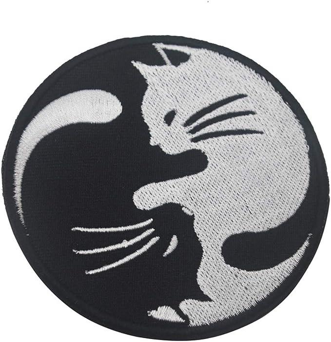KingNew Yin and Yang insignia táctica para gato, parche de velcro ...